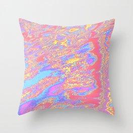 sideways strata Throw Pillow