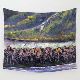 The Train Whistle Echos in Glenwood Canyon Wall Tapestry
