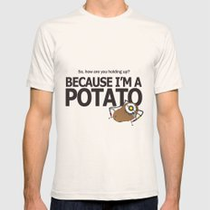 Glados Portal 2 Potato LARGE Natural Mens Fitted Tee