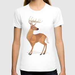 Low Poly White-tailed Deer T-shirt