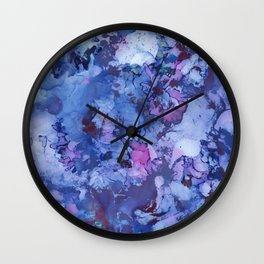 Abstract Alcohol Ink Painting 3 Wall Clock