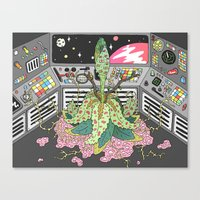 sci fi Canvas Prints featuring sci fi by james clapham