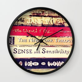 Classic Books Wall Clock