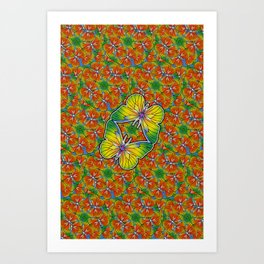 Buterflies Art Print