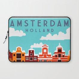 Vintage Amsterdam Holland Travel Laptop Sleeve
