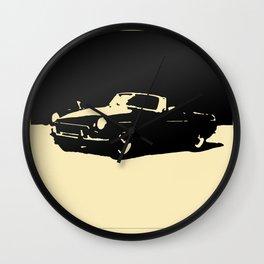 MGB, Black on Cream Wall Clock