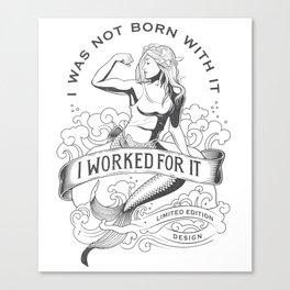 Gym mermaid Canvas Print