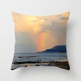 Adventure under the Rainbow Throw Pillow