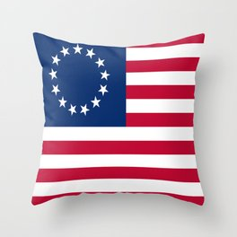 Historical flag of the USA: Betsy ross Throw Pillow