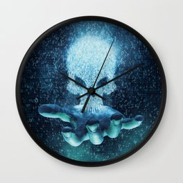 Binary Oblivion Wall Clock