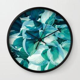 Botanic leafage Wall Clock