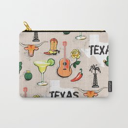 Classic Texas Icons Carry-All Pouch
