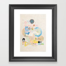 ON SUNDAYS I DON'T TALK Framed Art Print
