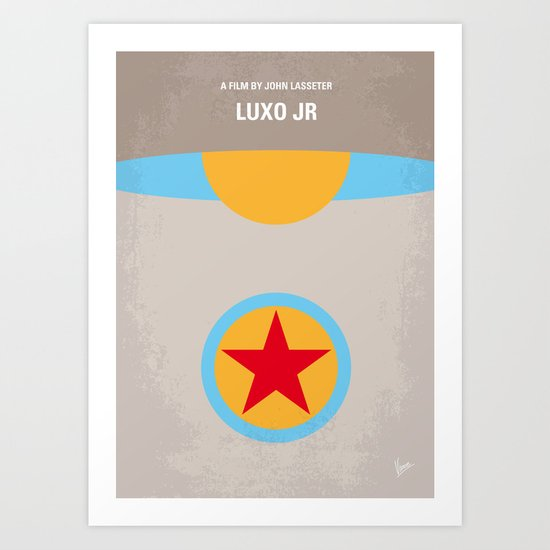 No171 My LUXO JR minimal movie poster Art Print