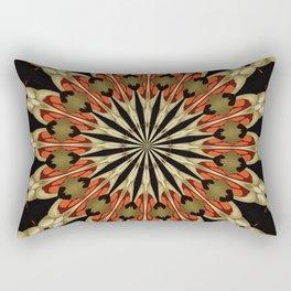 Coral With Caramel and Cream Mandala Rectangular Pillow