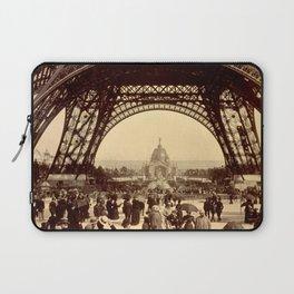 People Walking Under the Eiffel Tower 1889 Laptop Sleeve