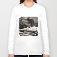 bread Long Sleeve T-shirts featuring Bread  by Ethna Gillespie