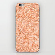 Orange doodles iPhone & iPod Skin