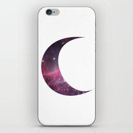 cosmic crescent moon iPhone Skin