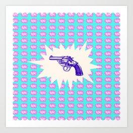 Purple Gun Art Print