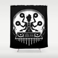 shiva Shower Curtains featuring Disco Shiva by starplexus