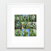 marijuana Framed Art Prints featuring Marijuana Collage by Beautiful Buds 420