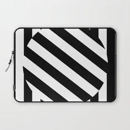 The Turning Point - Abstract Minimalism Art (3) Black & White Laptop Sleeve