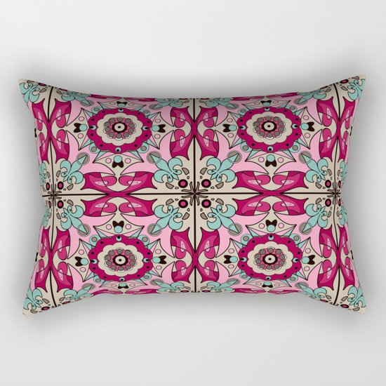 A colourful ornament . Rectangular Pillow