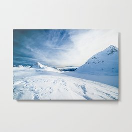 snow mountain landscape Metal Print