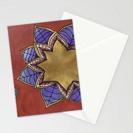 Zentangle Flower Loto (Pastel & Acrylic ) Stationery Cards