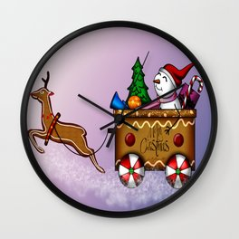 Dashing through the sugar snow Wall Clock