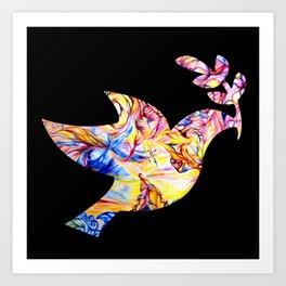 Vibrant Peace Dove Art Print