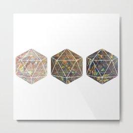 Iridescent Aura Quartz Polyhedrons Metal Print