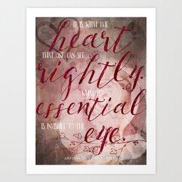 Le Petit Prince Quote Poster - Long Art Print