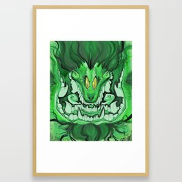 Two jawed foo dog Framed Art Print