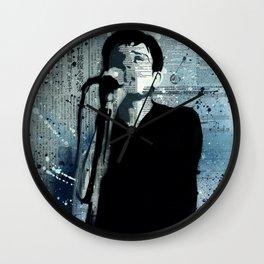 *IAN CURTIS/STENCIL* Wall Clock
