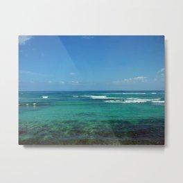 Maui, Hawaii Road to Hana, Clear Blue green waters Metal Print