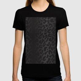 Black Shadowed Leopard Print T-shirt