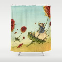 Seeds In The Wind Shower Curtain