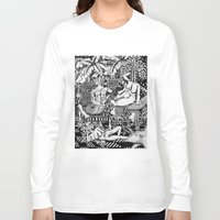 bisexual Long Sleeve T-shirts featuring Psychedelic Visions of the Bisexual Shaman Chicks by cahill wessel