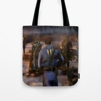 fallout Tote Bags featuring Fallout Tribute by Hetty's Art