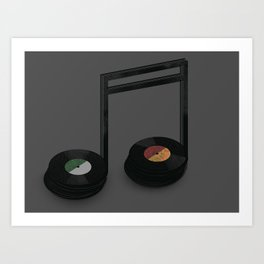 Music Record Art Print