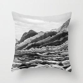 Stone Waves Throw Pillow