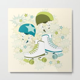 Roller Derby Rumble Metal Print