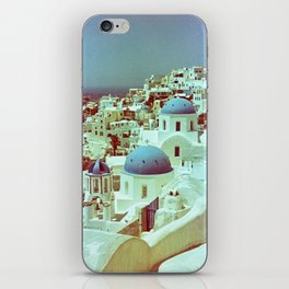 Santorini in Raspberry and Blue: shot using Revolog 600nm special effects film iPhone Skin