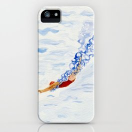 Swimmer - diving iPhone Case