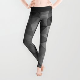 black polygon background Leggings