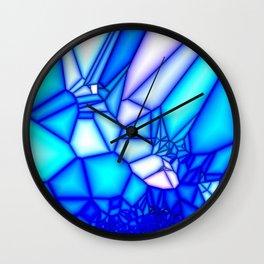 Glowing blue Wall Clock
