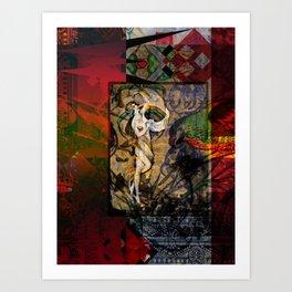 Captured Fragments Art Print