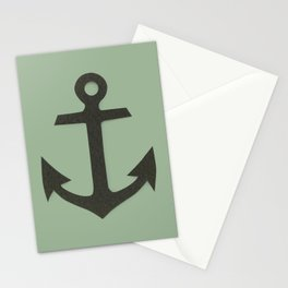 Green Anchor Stationery Cards